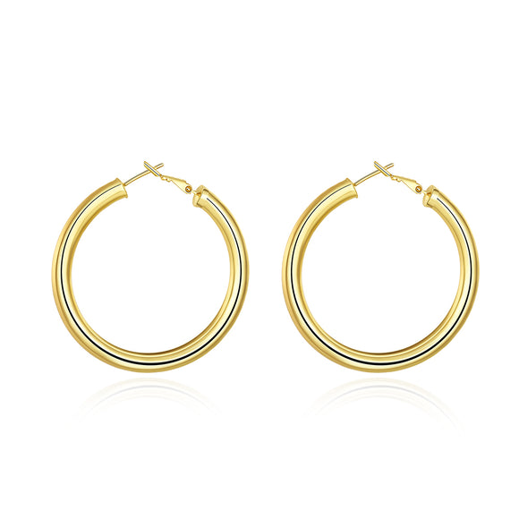 Fashion K gold Europe and the United States selling round earrings AKE064