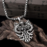 Ancient Maya foreign trade popular retro style Ssangyong men 's pendant necklace GMYN045