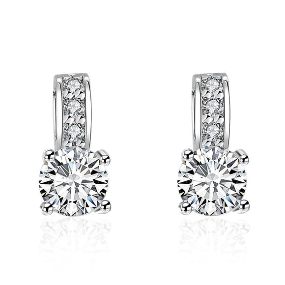 Fashion K Gold Europe and the United States fashion popular dazzling zircon ladies earrings AKE053