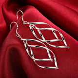 Double banana-shaped earrings fashion leaves silver earrings E168