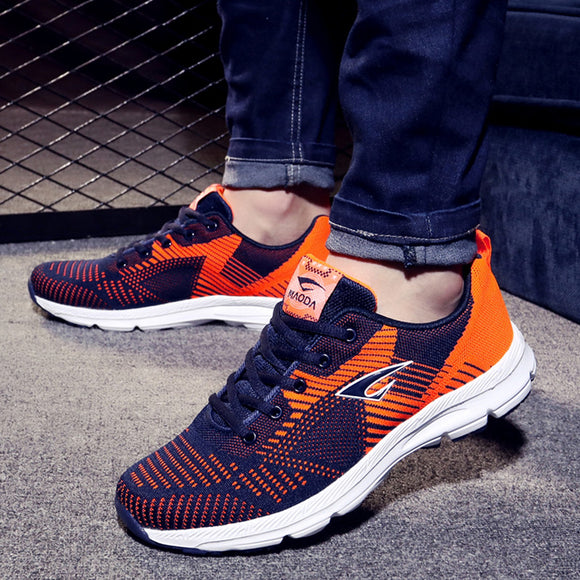 010862bd811826 Men  s shoes running shoes men  s sports shoes breathable flying woven  brand students