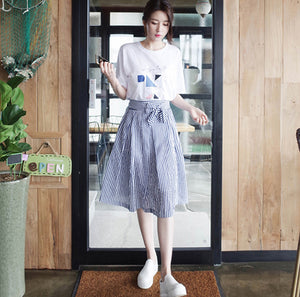 Skirt Skirt Skirt Up And Down Two Pieces 2018 Summer New Korean