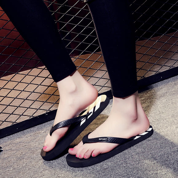 7ae74bd391d70e 2017 summer new three flip flops men and women trendy simple sandals flat  couple slippers