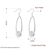 Middle pearl earrings simple spherical shape silver earrings E133
