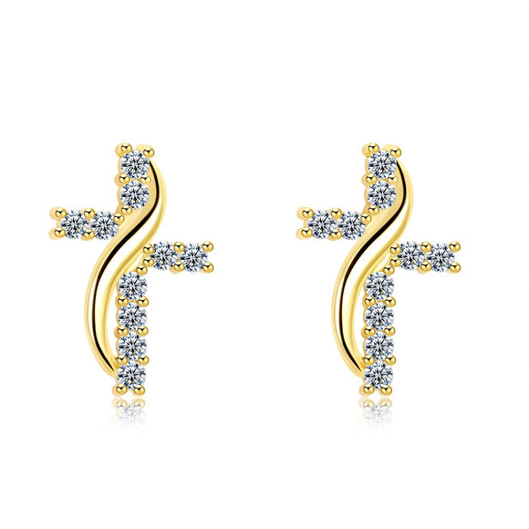 Ms. exquisite earrings fashion earrings personalized cross earrings