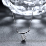 LEKANI925 sterling silver necklace Heart-shaped diamond necklace in sterling silver women's SVN