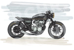 DANGKUL CB750 : SRCHR Life, Digital Art, Motorcycle Print