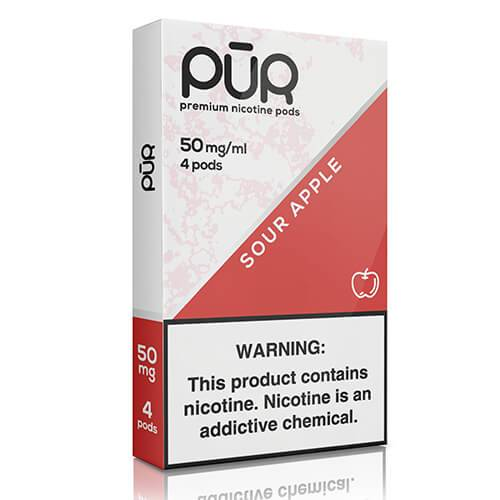 PuR - Compatible Nicotine Pods - Sour Apple (4 Pack)