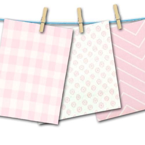 pink fabric swatches