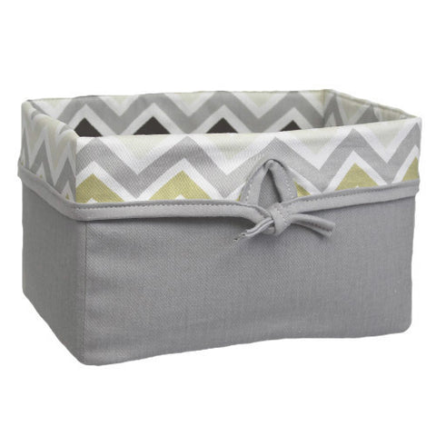 CHEVRON GREY Soft Nursery Basket