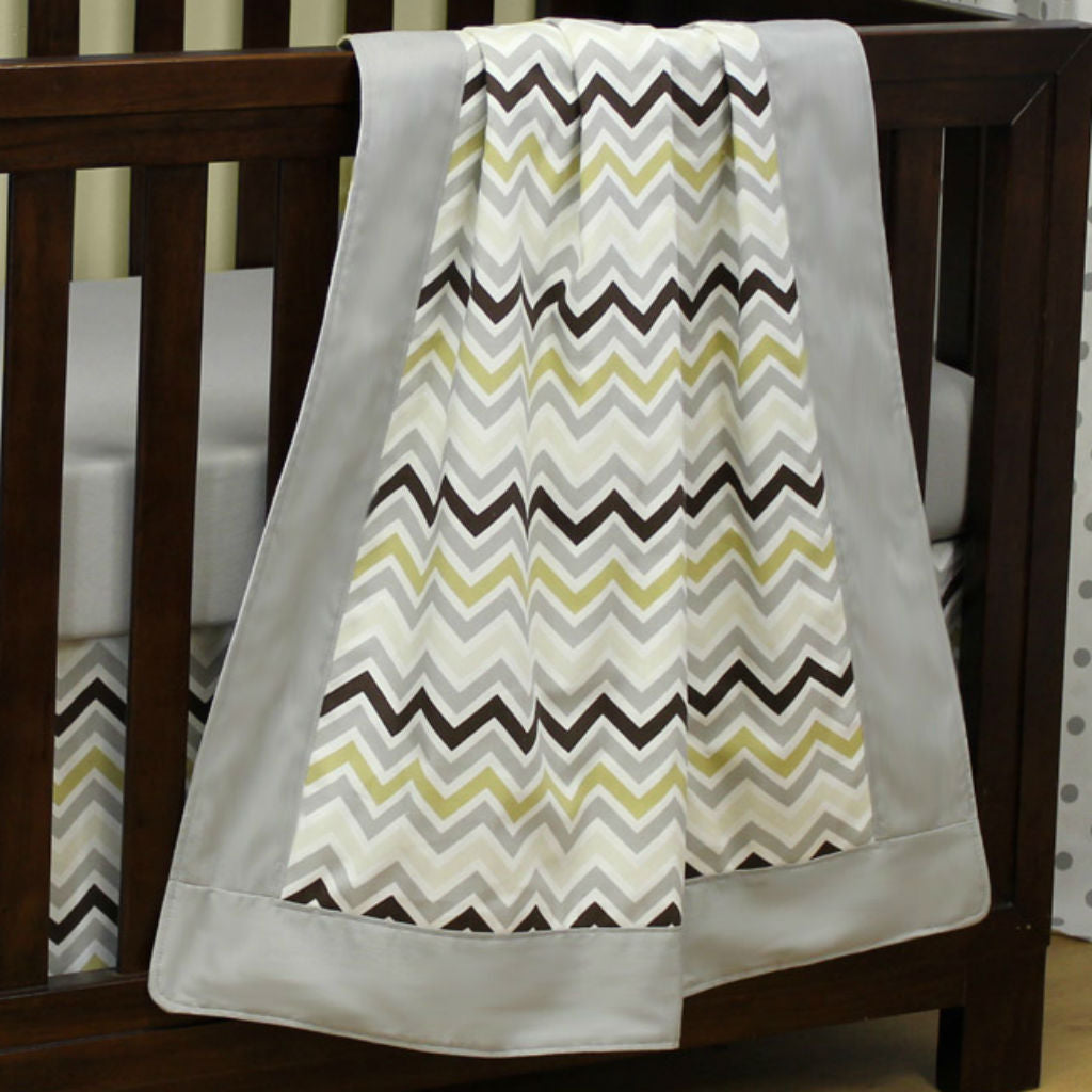 Chevron Grey | Baby Blanket - Sweet Kyla