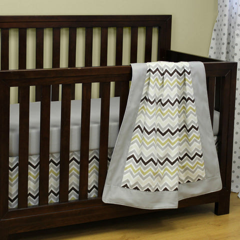 Chevron Grey 3 PC. | Crib Set