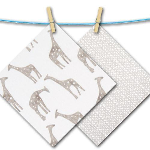 soft grey and white giraffe and pebble free fabric swatches