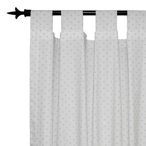 light color grey drapes with stars