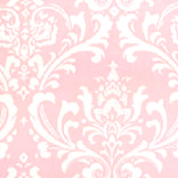 pink and white scroll fabric by the meter
