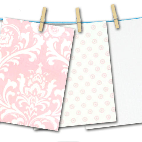 pink and white free fabric swatches