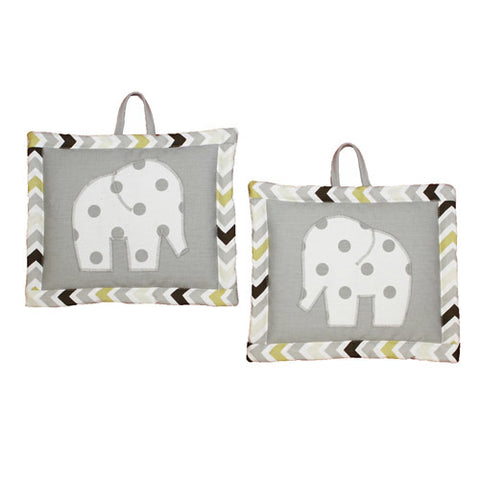 CHEVRON GREY Nursery Wall Art (Set of 2)