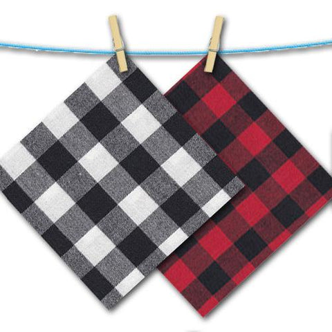 black and white and red plaid free swatches