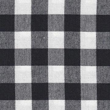 black and white plaid fabric by the meter