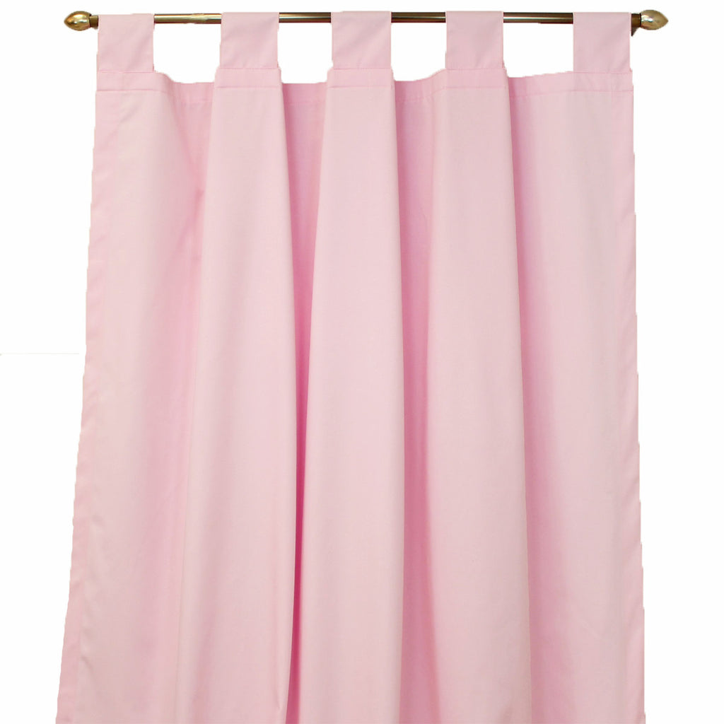 PINK JULEP Long Nursery Drapes - Pink Solid (Set of 2)