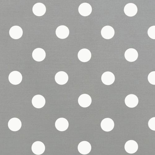 polka dot grey with white dot fabric for sale by the metre