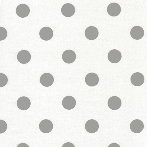 polka dot grey and white fabric for sale by the metre