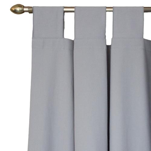 solid grey tab top drapes