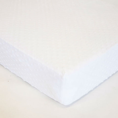 white bubble minky chenille crib sheet