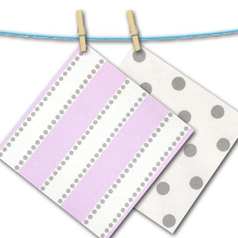 lilac purple stripe with grey dot free fabric swatches