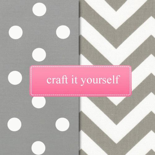 grey and white zigzag and polka dot crafting bundle