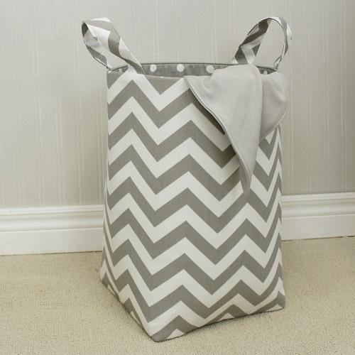 grey and white zigzag soft nursery hamper