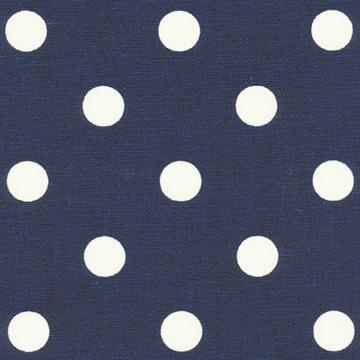navy and white dot fabric by the meter