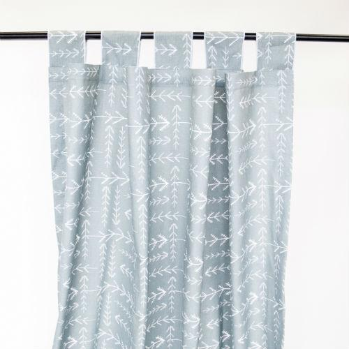 dark teal with small white arrow drapes