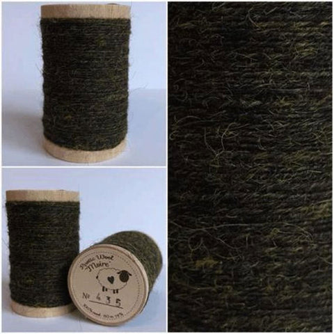 Rustic Moire Wool Thread #435 for Embroidery, Wool Applique and Punch Needle Embroidery
