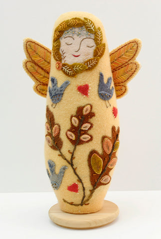 Harvest Angel Doll Wool Applique Digital Pattern