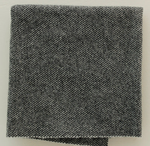 BLACK & WHITE TWEED: Quarter Yard, Felted Wool Fabric for Rug Hooking, Wool Applique & Crafts Active
