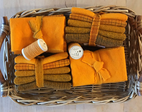 MARIGOLD Hand Dyed Wool for Rug Hooking and Wool Applique