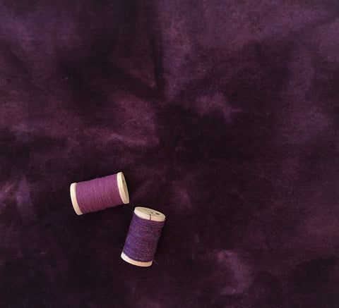 EGGPLANT Hand Dyed Wool Fabric