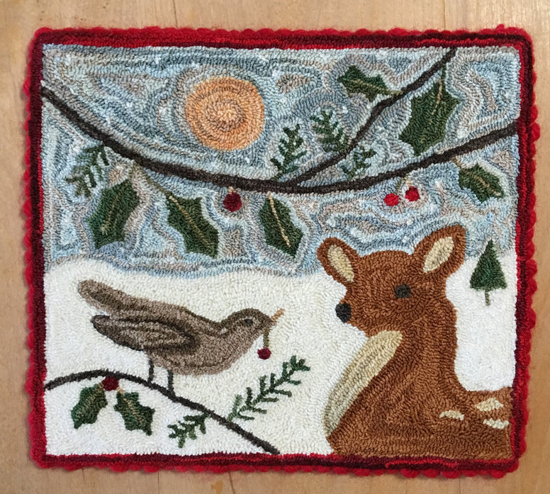 WINTER FRIENDS, a Punch Needle Pattern