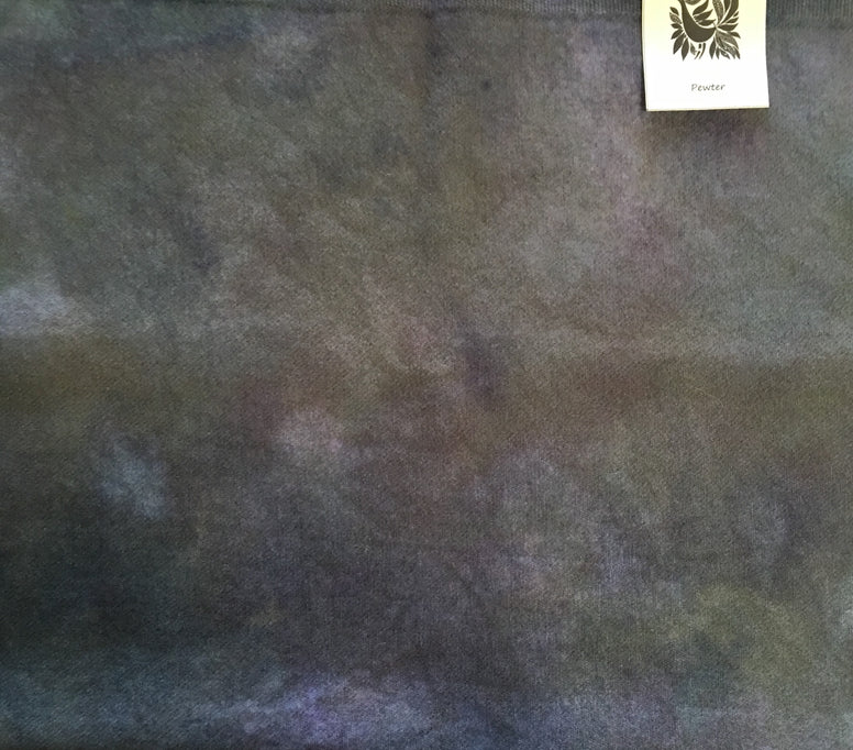 PEWTER Grey Hand Dyed Wool for Rug Hooking, Rug Braiding,Wool Applique and Fabric Art