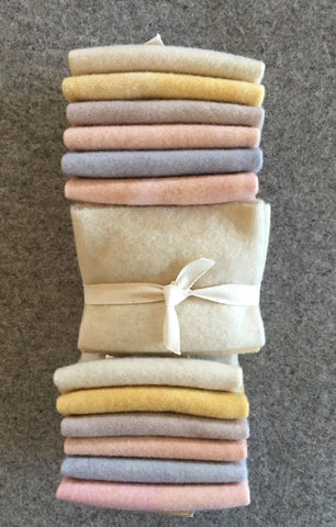 RUSTIC FARMHOUSE:  Fat Sixteenth Six Pack of Hand-dyed Wool for Rug Hooking & Wool Applique