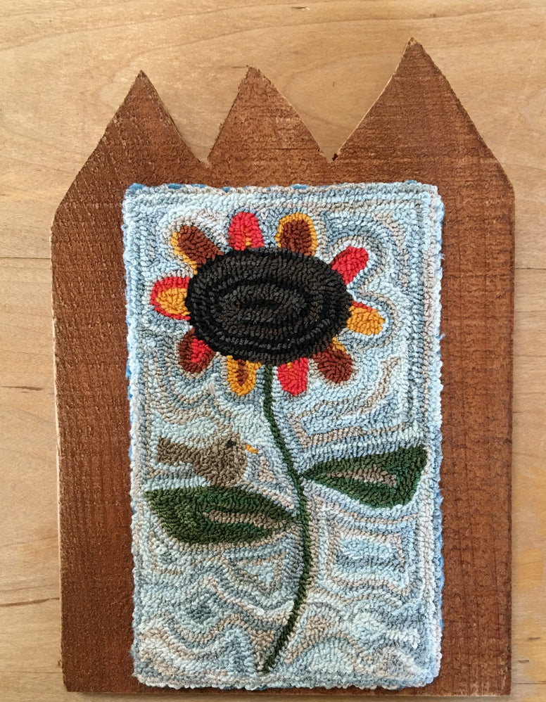 SUNFLOWER Punch Needle Embroidery Pattern or Kit