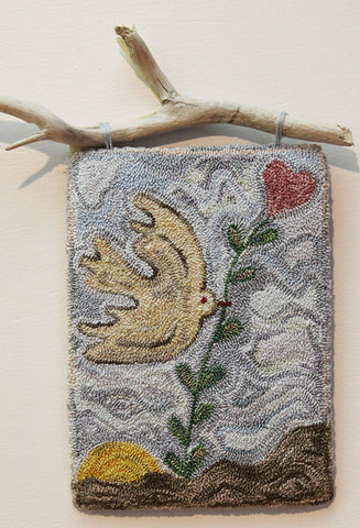 PEACE DOVE #1 Punch Needle Embroidery Digital Pattern
