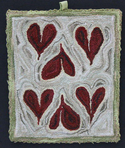 SIX of Hearts, a Punch Needle Digital Embroidery Project