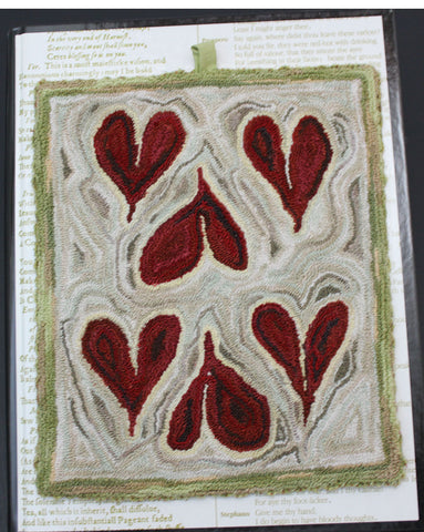 SIX of Hearts, a Punch Needle Embroidery Project