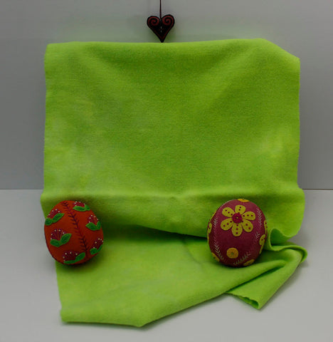 Radioactive Green Hand Dyed Wool for Rug Hooking and Wool Applique