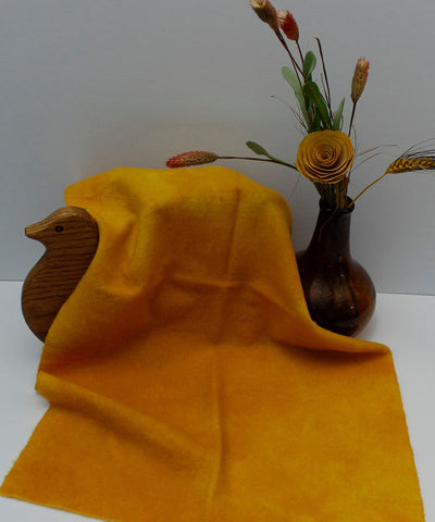 MUSTARD Hand Dyed Wool for Rug Hooking, Rug Braiding, Wool Quilts and Wool Applique