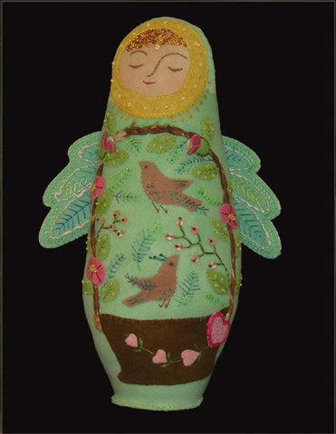 Angel of Summer Wool Applique Doll Pattern
