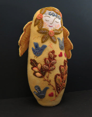 Harvest Angel Wool Applique Doll Pattern