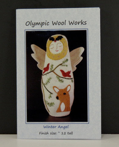 Winter Angel Wool Applique Doll Pattern